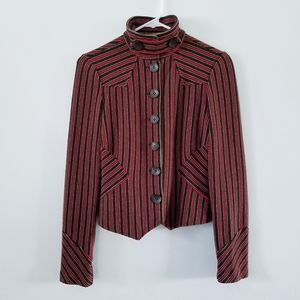 DVF striped wool structured band style jacket